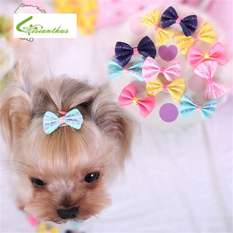 hair accessories for yorkie poos yorkshire terrier and poodle hair accessories handmade pet