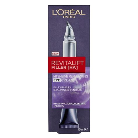 L Oreal Revitalift Filler buy revitalift filler ha intensive replumping eye