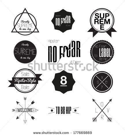 hipster style elements icons and labels stock vector hipster style elements icons and labels ilustraci 243 n