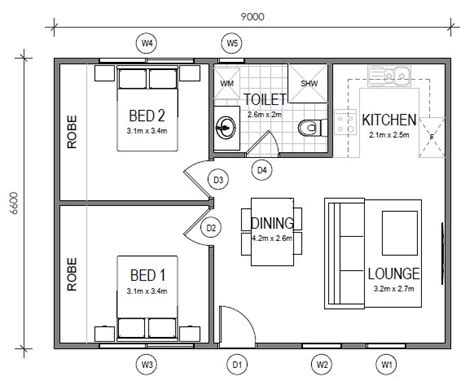 Floor Plans For 3 Bedroom Flats Granny Flats Gs Building