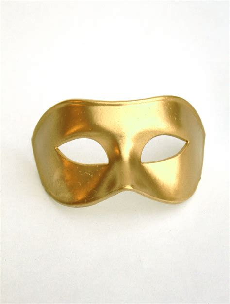men s plain gold genuine venetian masked ball mask