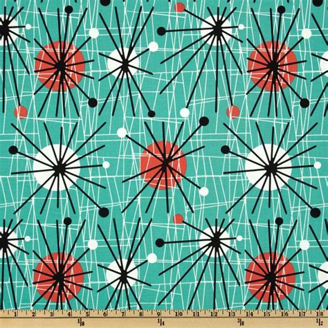 mid century modern fabric reproductions michael miller mid century modern atomic turquoise