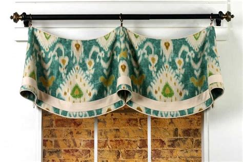 Claudine Curtain Valance Sewing Pattern Mounted On A Rod Kitchen Curtain Sewing Patterns