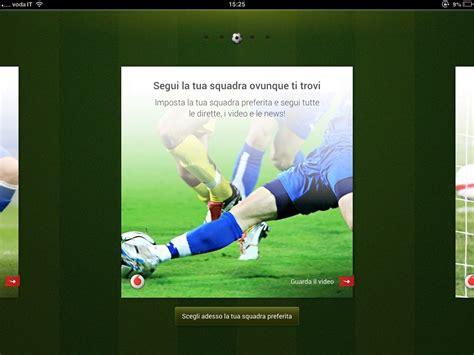 calcio su diretta mobile vodafone calcio serie a in diretta 3g e lte