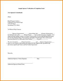 6 completion letter sample hr cover letter