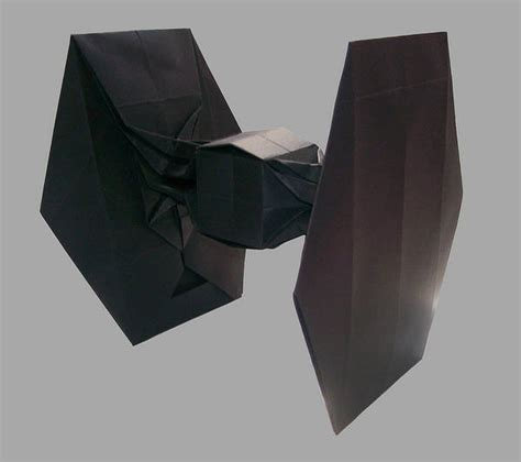 origami tie fighter boing boing