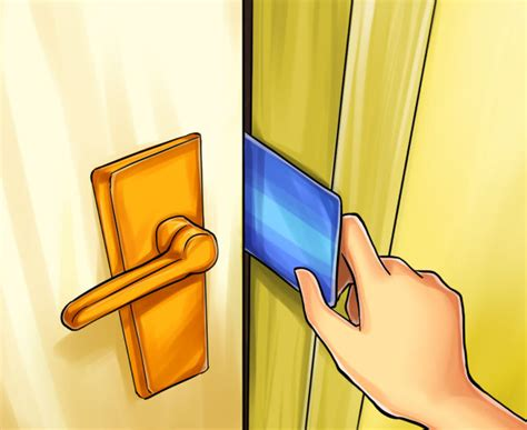 how to open a door with a credit card 4 pics izismile