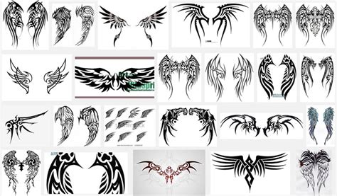 tribal wing tattoo designs wings meanings itattoodesigns