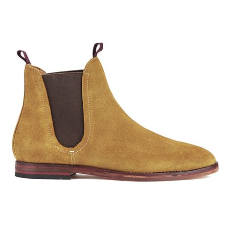hudson s ter suede chelsea boots sand mens