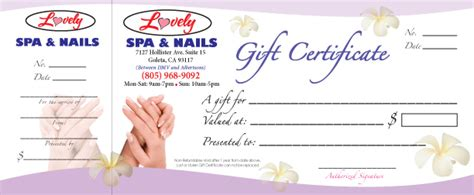 nail gift certificate template song hy printing gift certificates