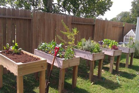 elevated garden beds on legs how to build raised garden beds on legs gardening pinterest
