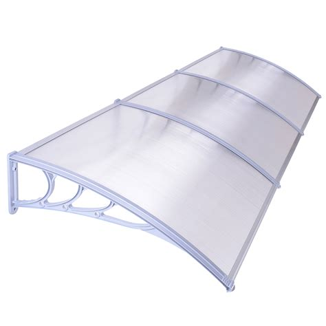 Awning Sun Canopy by Door Window Outdoor Awning Hollow Sheet Sun Shade Cover Canopy 40 Quot 47 Quot 75 Quot 106 Quot Ebay