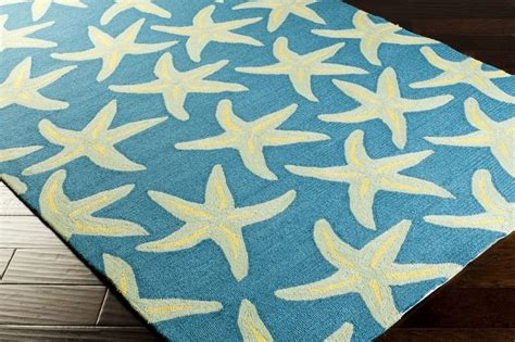 Starfish Rug by Peacock Blue Starfish Rug S A