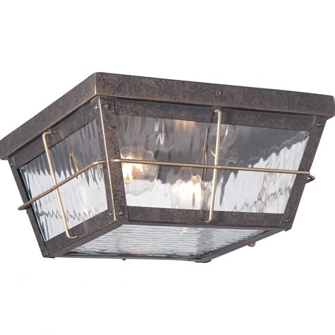 period exterior flush fit porch light  bronze