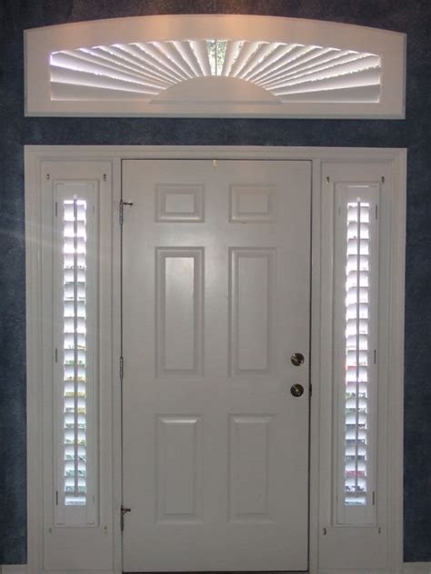 Window Coverings For Front Door Sidelights Rectangular Arch And Sidelight Window Coverings Traditional Entry By Blinds