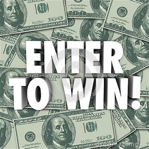Enter Contests To Win Money - enter to win money dollars background contest raffle prize award stock illustration