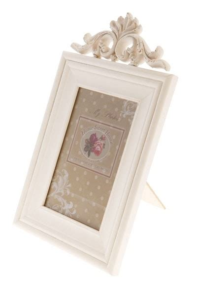 shabby chic white photo frame