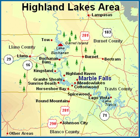 highland lakes texas map texas hill country real estate horseshoe bay marble falls meadowlakes tx mls