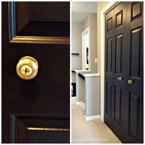 interior doors home hardware focal point styling how to paint interior doors black update brass hardware