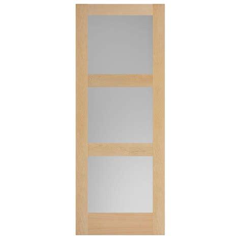 steves sons 6 panel unfinished red oak interior door steves sons 36 in x 84 in modern full lite rain glass
