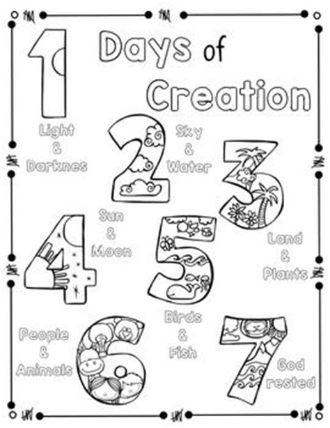 creation coloring pages preschool days of creation coloring page and handwriting practice