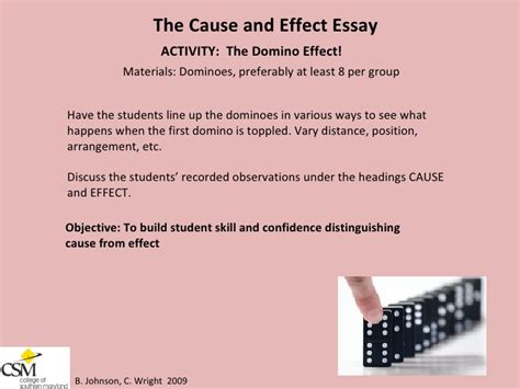 Cause And Effect Analysis Essay Exles by Writing A Cause And Effect Essay Middle School Docoments Ojazlink