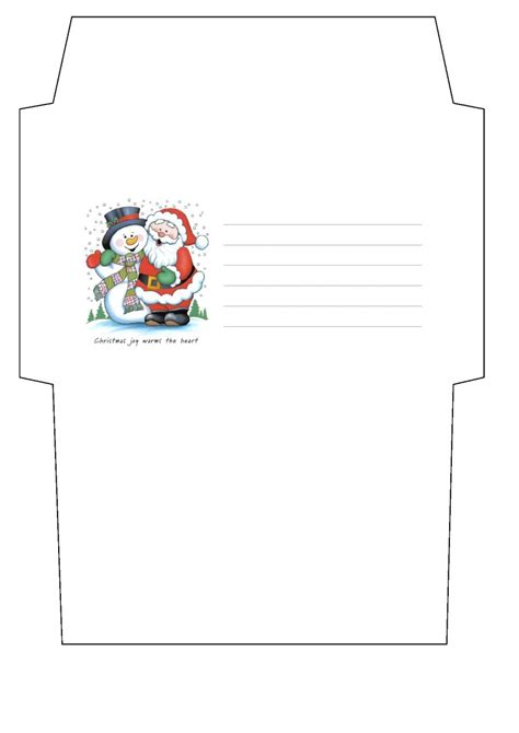 santa envelope template envelope templates best template idea