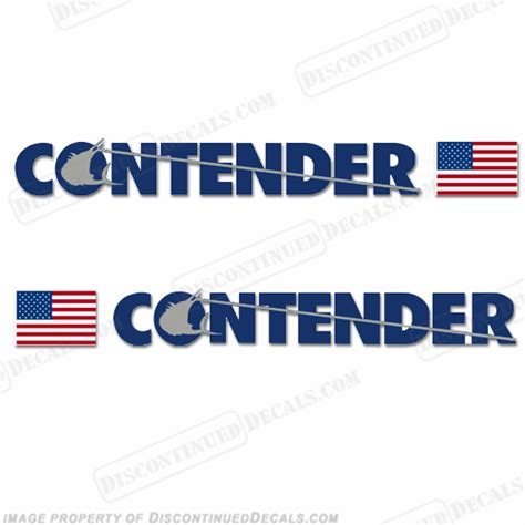 contender boats logo contender boat logo decal w flag set of 2