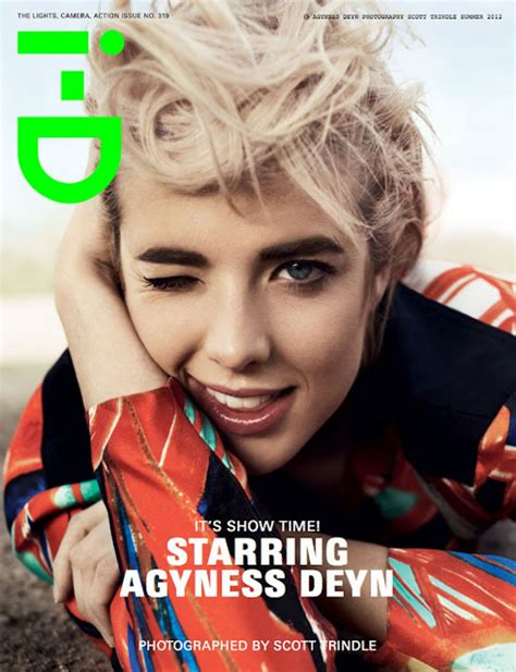 Agyness Deyns 6 I D Covers agyness deyn on the cover of i d magazine summer 2012