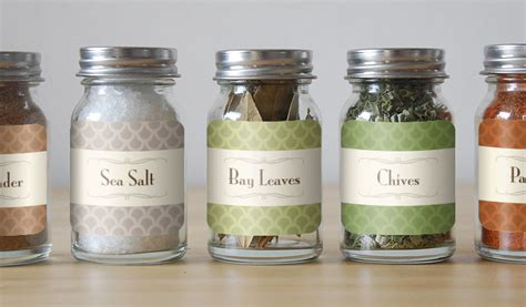 Glass Kitchen Canister Custom Spice Labels And Jar Labels Stickeryou Products