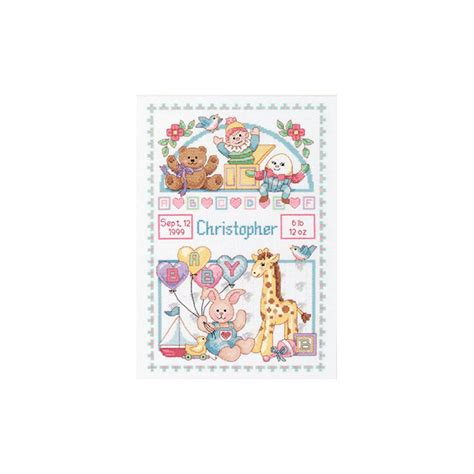 Birth Records Ct Dimensions Birth Record For Baby 14 Ct Cross Stitch Kit