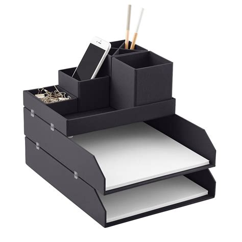 Bigso Graphite Stockholm Desktop Organizer The Container Container Store Desk Organizer