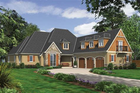Rustic European With Vaulted Spaces 69454am Rustic European House Plans