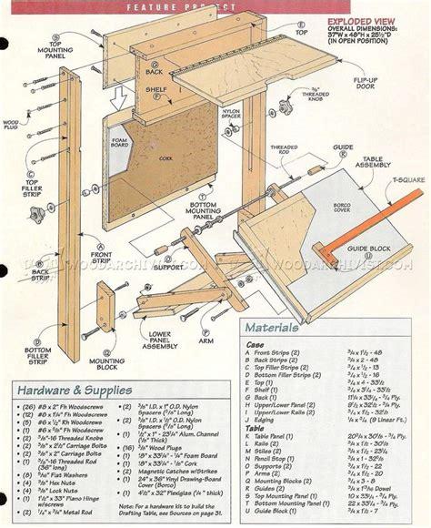 fold  drafting table plans drafting table