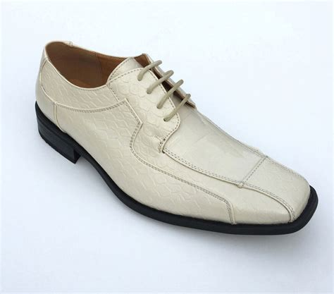 oxfords faux leather embossed s dress shoes 5732 size 8 5 16 ebay