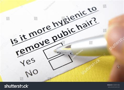 hygen and pubic hair more hygienic remove pubic yes stock photo 530991469