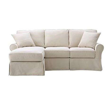 slipcovered sofa with chaise home decorators collection mayfair fabric 2 piece