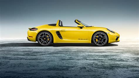 yellow porsche boxster porsche 718 boxster exclusive in racing yellow
