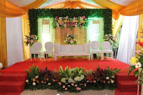 dekorasi pelaminan pernikahan  rumah terbaru konsep