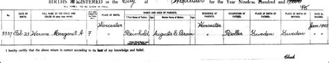 Worcester County Birth Records The Birth Of Margaret A Werme 1902 Steve S Genealogy