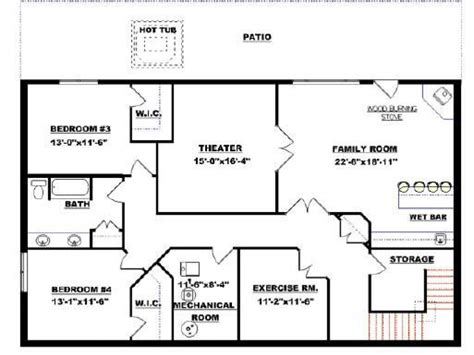 basement house floor plans small modular homes floor plans floor plans with walkout