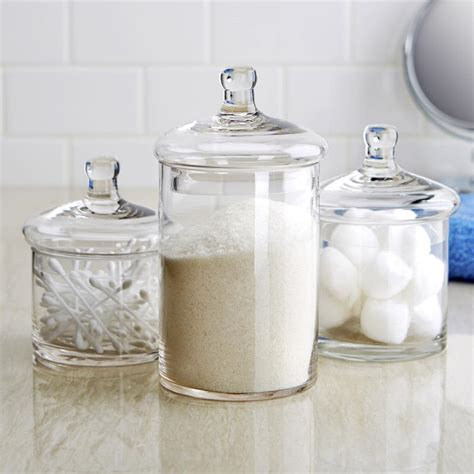 Clear Canisters Kitchen by Beautiful Bathroom Canisters 5 Clear Kitchen Canister