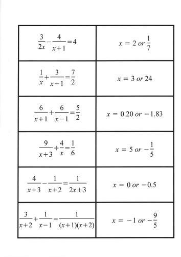 Algebraic Fractions Worksheet by Worksheets Algebraic Fractions Worksheet Opossumsoft