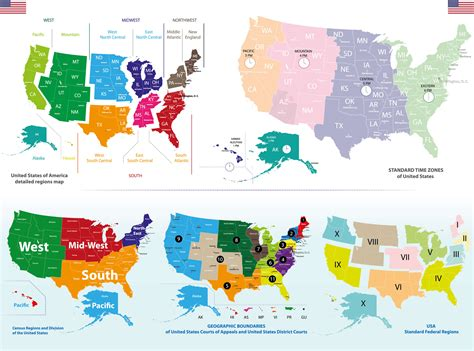 usa zone map us map