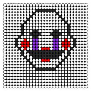 fnaf 2 marionette puppet perler bead perler bead pattern