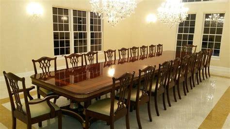 large mahogany dining room table regency transitional