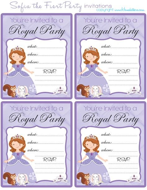 princess sofia birthday invitation templates free printable princess sofia invitation