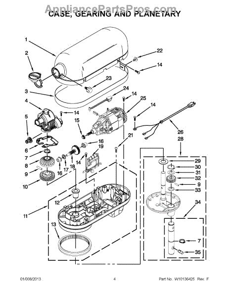 kitchenaid stand mixer parts diagram parts for kitchenaid kg25h3xer5 gearing and
