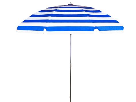Blue And White Striped Patio Umbrella 7 1 2 Diameter Patio Blue White Stripe Commercial Outdoor Umbrella No Tilt 9 Oz Marine