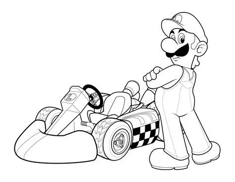 Mario Kart Coloring Pages Printable free printable mario coloring pages for